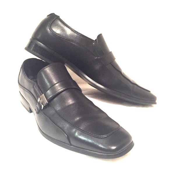 Perry Ellis Other - Black Leather Slip-on Loafers